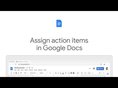 How to Assign action items using @ symbol in Google Docs
