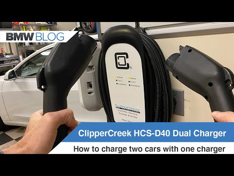 How to charge two electric vehicles with one charger - ClipperCreek HCS-40 Dual Charger
