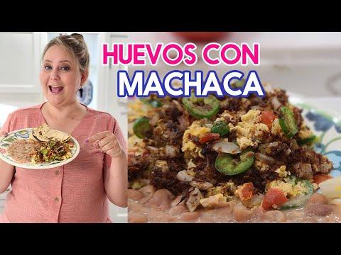 HUEVOS CON MACHACA A LA MEXICANA