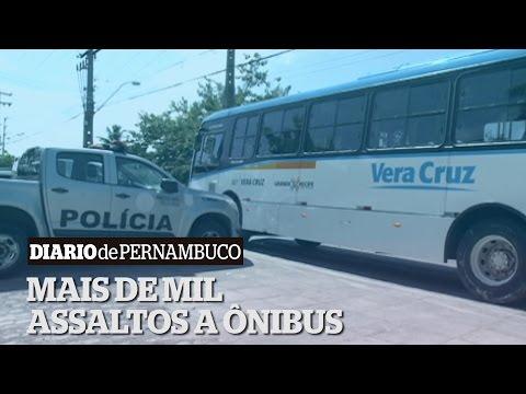 Mais de mil assaltos a onibus na RMR