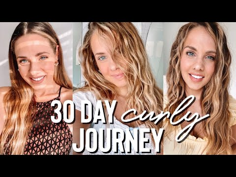 30 Day curly / wavy hair journey.. EVERYTHING you need to know – Kayley Melissa