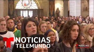 Cientos de Peregrinos asisten a la tradicional la misa de Navidad en Belén   Noticias Telemundo