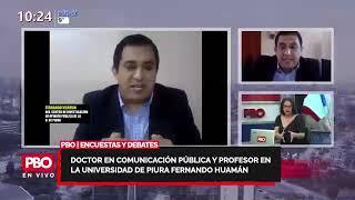 ENCUESTAS Y DEBATES - Fernando Huamán sobre se acorta la distancia entre Pedro y Keiko - PBO