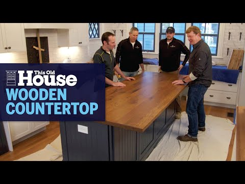 How to Install a Wooden Kitchen Island Countertop   This Old House