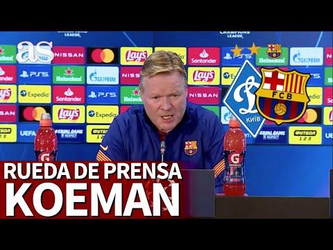 DINAMO KIEV – BARCELONA | Rueda de prensa de KOEMAN | Diario AS