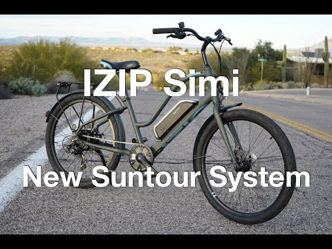 IZIP Simi w/ New Suntour System Electric Bike Review   Electric Bike Report
