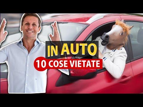 10 COSE che NON si possono fare IN AUTO | Avv. Angelo Greco