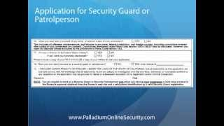Application for Security Guard or Patrolperson - Submitting