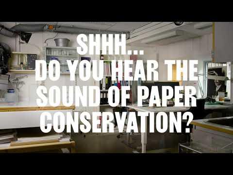 ASMR - Shhh… Do you hear the sound of paper conservation?