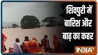 MP: शिवपुरी में भारी बारिश और बाढ़ से बिगड़े हालात, NDRF ने संभाला मोर्चा - INDIATV