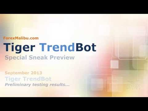 Tiger TrendBot Expert Advisor Performance [PRE RELEASE] Automated Forex Day Trading Software
