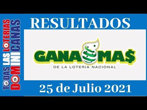 Lotería Gana Mas  Domingo 25 de Julio del 2021 #todaslasloteriasdominicanas