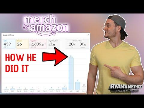 AMAZON MERCH SUCCESS! $1,606 Royalties in Tier 100 🔥