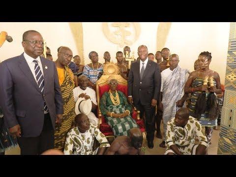 Visite du PR chez la Reine AKOUA BONI II à Sakassou