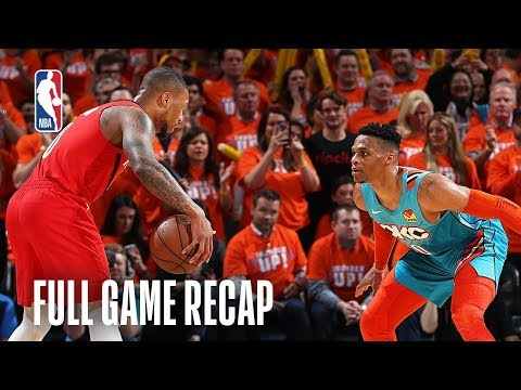 TRAIL BLAZERS vs THUNDER | Russell Westbrook Shows No Quit With 33 Points | Game 3