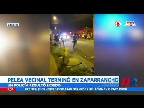 Pelea vecinal terminó en zafarrancho en Guácimo