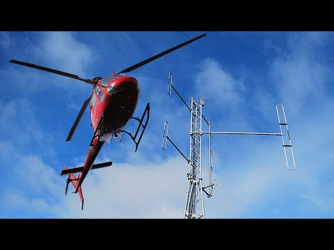 Lifting a Amateur Radio Repeater Tower with a Helicopter