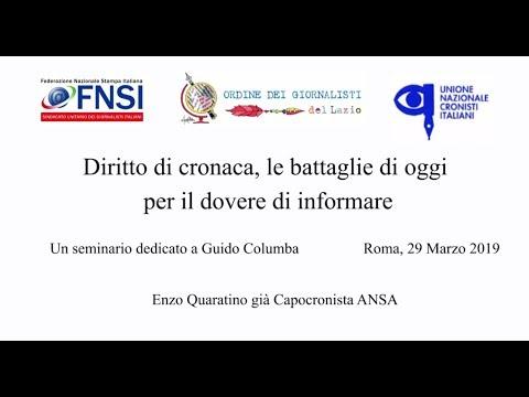 Diritto di cronaca, le battaglie di oggi per il dovere di informare - Enzo Quaratino