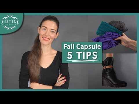 Video: Capsule wardrobe: 5 tips to transition from summer to fall + free template ǀ Justine Leconte