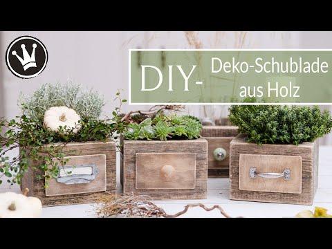 DIY – Herbstdeko | Deko-Schublade aus Holz selber machen | Adventsdeko | Upcycling | DekoideenReich