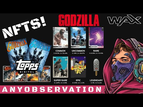 Topps Godzilla NFTs on WAX!   And MLB?!
