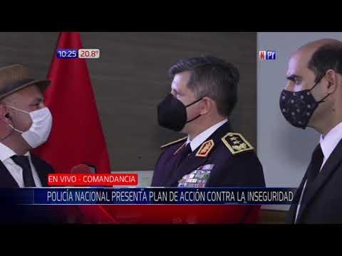 Policía Nacional presenta plan de acción contra la inseguridad