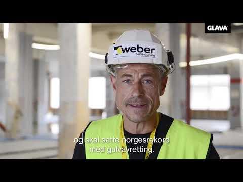 Rekordforsøk med Weber gulvavretting Halden vgs