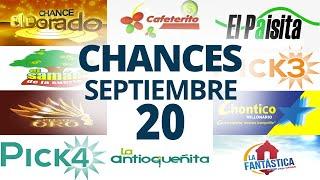 Resultados del Chance del Domingo 20 de Septiembre de 2020 | Loterías ????????????????