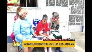 SMP: familia de adultos mayores es desalojada de vivienda en plena cuarentena