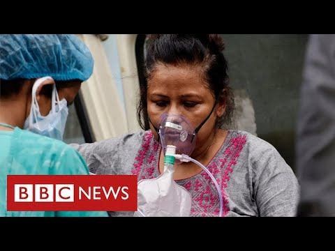 Hospitals in India run out of oxygen as its Covid cases hit world record levels - BBC News