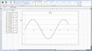 Sine and Cosine Graphs on Excel - YouTube