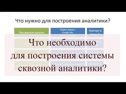 Что необходимо для построения системы сквозной аналитики?