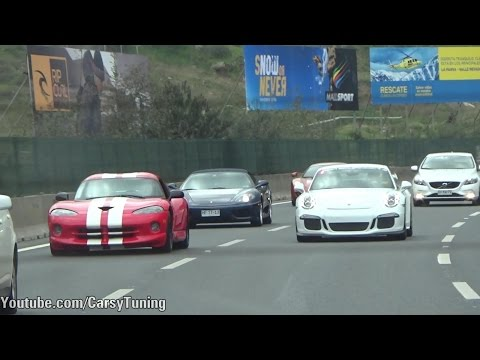 Saturday Convoy - 458, 360 Spider, 12C Spider, Gallardo Spyder, GT3 and Viper GTS