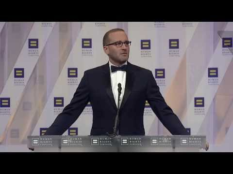 HRC President Chad Griffin addresses the 2016 HRC National Dinner
