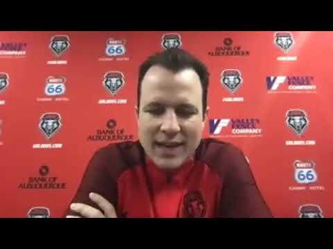 Paul Weir after UNM Lobos' loss to San Jose State (01.23.21)