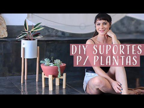 DIY 2 Suportes p/ Plantas ! Fácil de fazer!