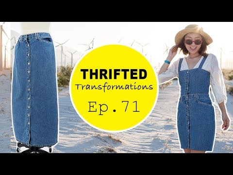 Thrifted Transformations Ep. 71 | DIY Denim Button Dress