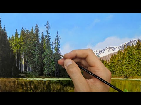 #152 Painting Trees. Oil Paint | Episode 152