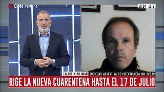 Cuarentena estricta: Análisis del infectólogo Martín Hojman
