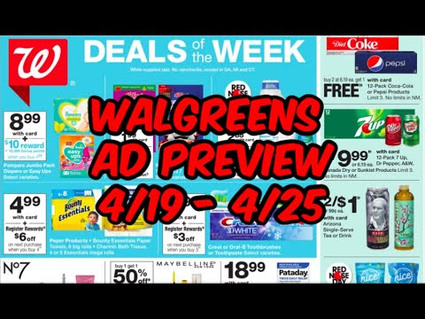 WALGREENS AD PREVIEW (4/19 - 4/25)   EASY FREEBIE & MORE!