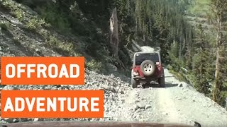 Jeep Off Roading Mountainside Trail | Black Bear Pass