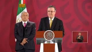 Declaraciones del secretario de Relaciones Exteriores de México, Marcelo Ebrard, sobre Bolivia.
