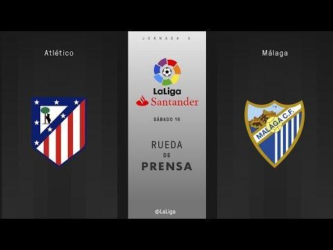 Rueda de prensa Atlético vs Málaga