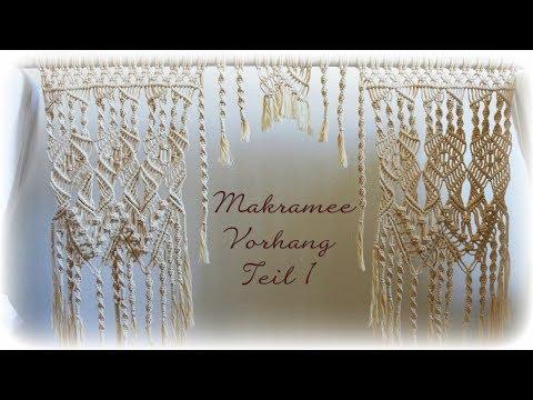 Makramee Vorhang Teil 1 * DIY * Macrame Curtain [eng sub]