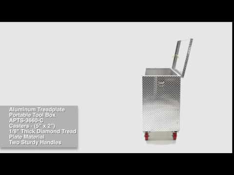 Aluminum Treadplate Tool Box APTS-3660-C