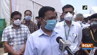 G Kishan Reddy, CM Kejriwal visits DRDO-built COVID Hospital in Delhi - INDIATV