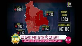 Los departamentos con más contagios de COVID-19