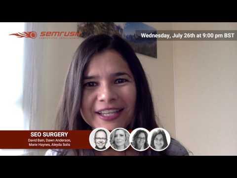 Seo Surgery #6 Aleyda Solis (promo)