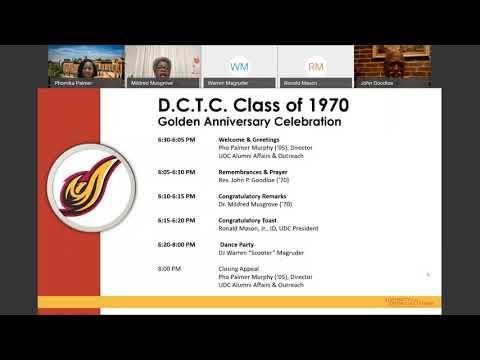 DC Teachers College 1970 Golden Celebration (11/13/20)
