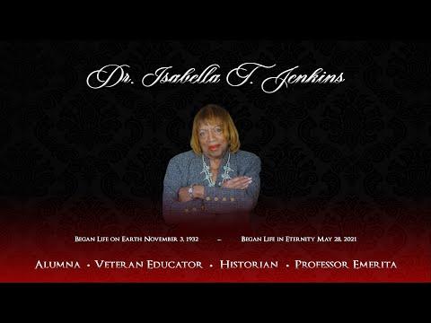 Dr. Isabella T. Jenkins Memorial Service
